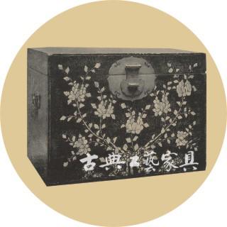 圖1-2 黑漆螺鈿牡丹紋箱