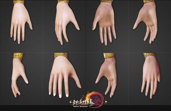 极为精细的手指,后续还将升级更高清的贴图,能看起皮肤的纹理