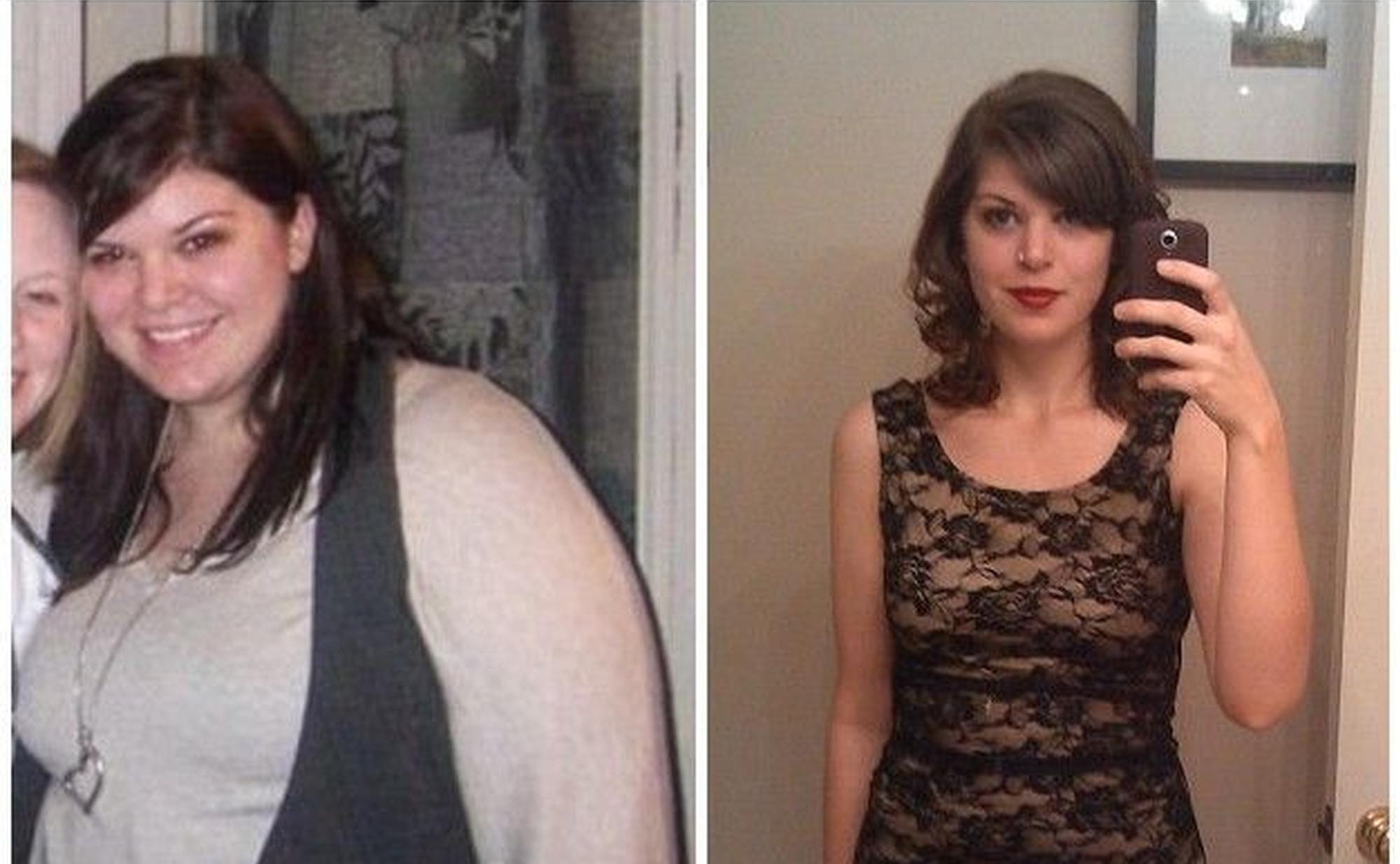200多斤胖妹成功瘦身100斤