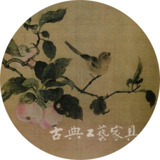圖2-2 南宋林椿《果熟來禽圖》(故宮博物館院藏)