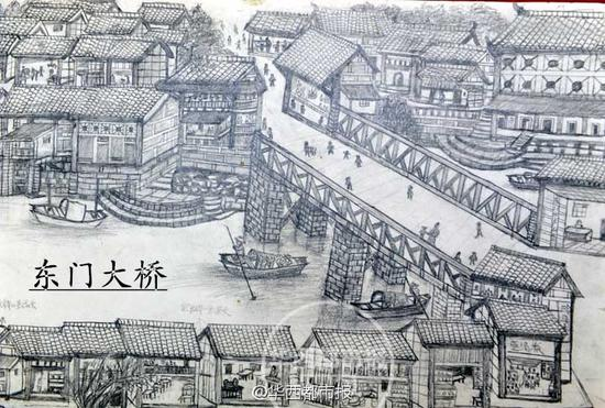 64岁学画画 73岁老人手绘老成都街景