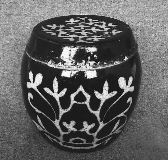 清代磁州窑盖罐