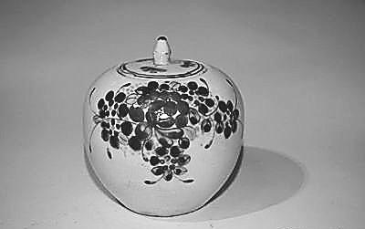 民国磁州窑盖罐