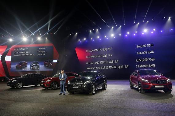 北京梅赛德斯-奔驰销售服务有限公司负责销售与市场营销的执行副总裁段建军先生宣布全新梅赛德斯-奔驰GLE 运动SUV的价格