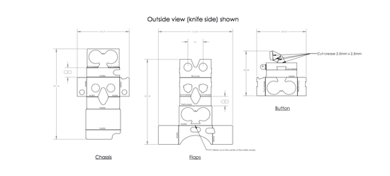 谷歌建筑第二代VR用户代表纸盒:眼罩可DIY_产公布什么图纸。参数T图片