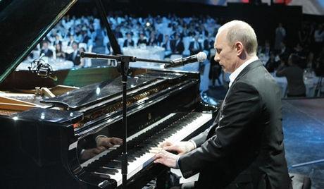 文艺普京之弹钢琴图片