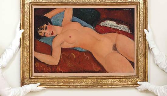 《斜躺的裸女》(1917)