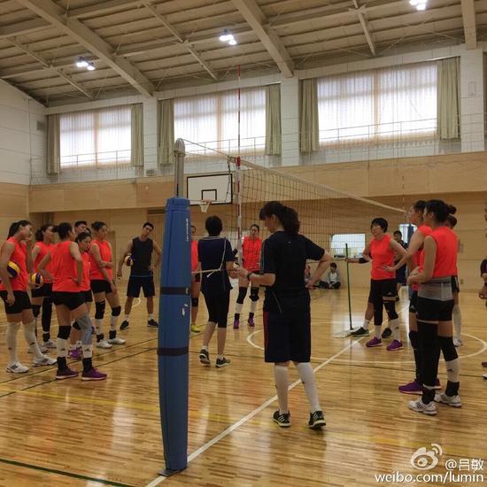 笔者聚焦中国女排训练