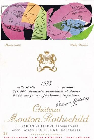 Andy Warhol – 1975 年份木桐(Chateau Mouton Rothschild)