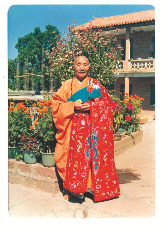 02 1986年,本焕长老80岁生日摄于丹霞山别传寺