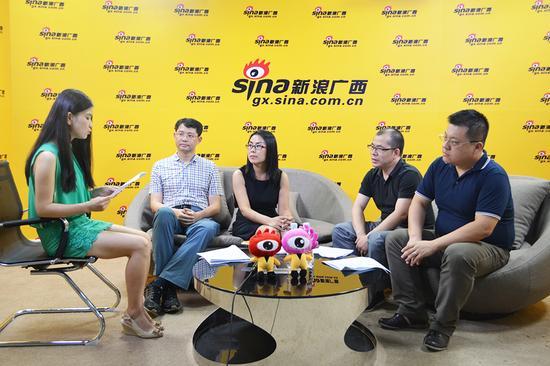 广西知名电商企业代表做客新浪广西。