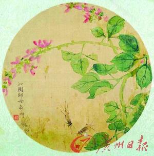 齐白石 《花卉蟋蟀》