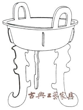 圖1 鼎繪圖商代(公元前十六年十一世紀)青銅高19厘米,寬15.7厘米(由Eric Lidow先生和夫人收藏)