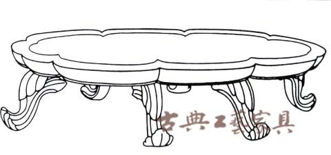 圖2 八葉幾圖公元八世紀綠,金,銀漆木高100厘米,長度87厘米,寬度42厘米(來自日本奈良正倉院)