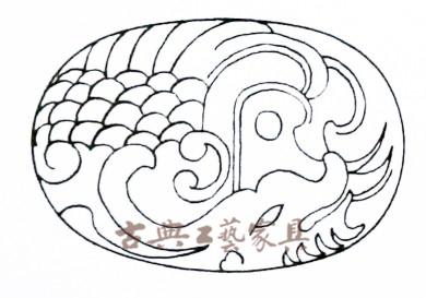圖8 印度馬卡拉海怪的雕刻圖案