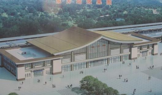 图为新建海南西环铁路东方站效果图。