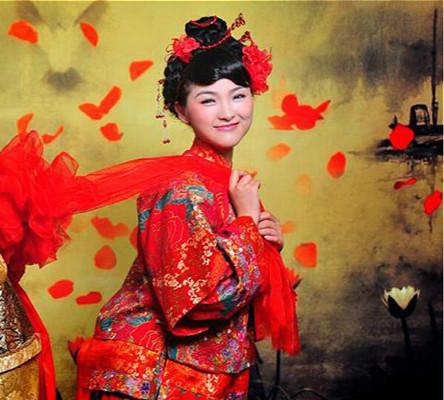 古韵味十足的中式新娘发型
