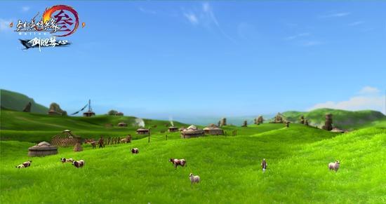 风吹草低见牛羊