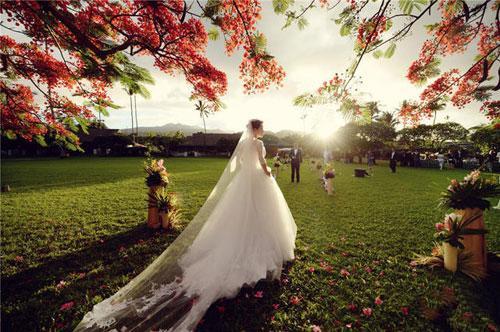 陆川与胡蝶婚礼现场。
