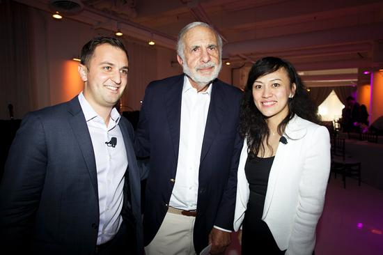 Lyft总裁John Zimmer,著名投资人Carl Icahn及滴滴快的总裁柳青