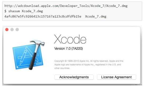 XCode编译器里有有病毒 XCodeGhost样本分
