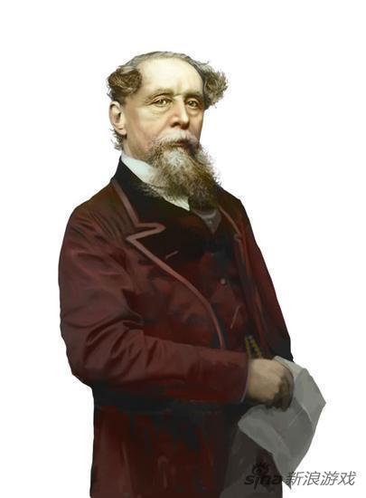 英国作家代表查尔斯 狄更斯