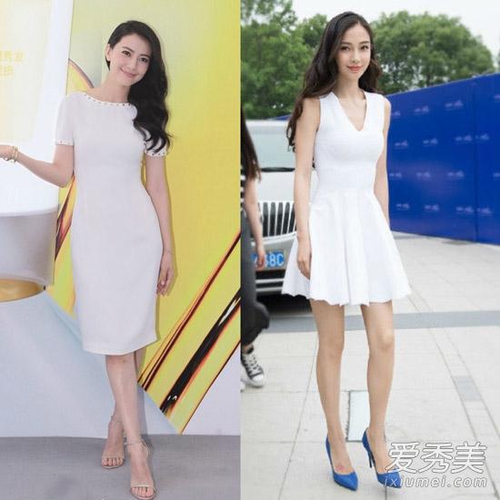 高和angelababy均穿白裙出席活