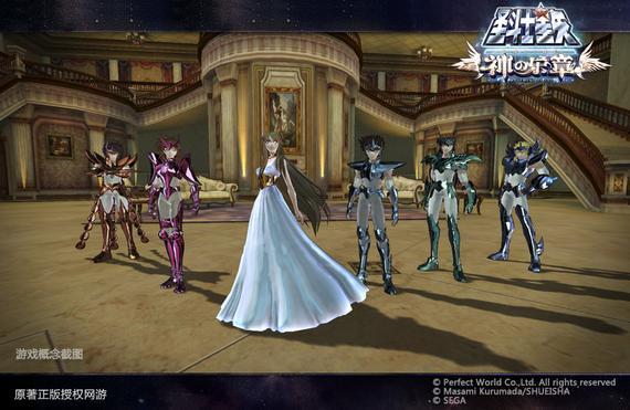 女神雅典娜和属于她的圣斗士五小强