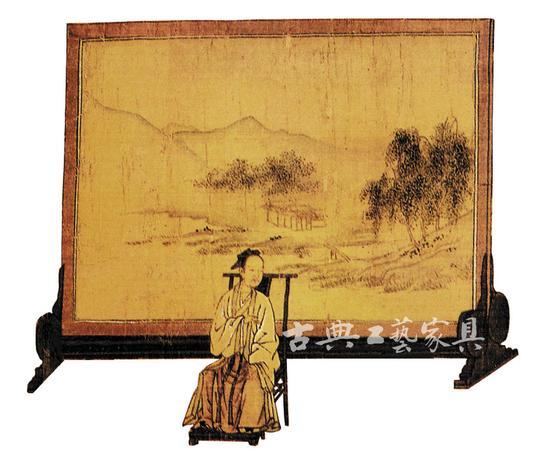圖1 南宋高宗書《女孝經圖》中的屏風