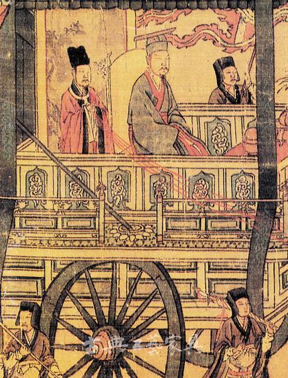 圖5 南宋高宗書《孝經圖》中的車載屏風