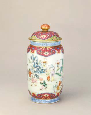 粉彩嬰戲圖壯罐,清乾隆,現藏於北京故宮博物院