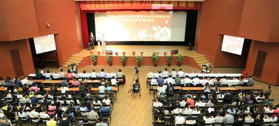 三江学院举办中国人民抗日战争暨世界反法西斯战争胜利70周年朗诵会