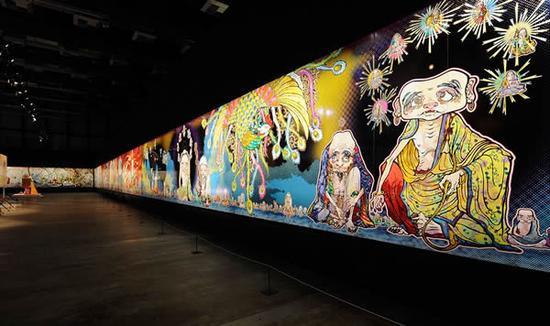 曾现身卡塔尔多哈的村上隆作品《500罗汉》(2012)