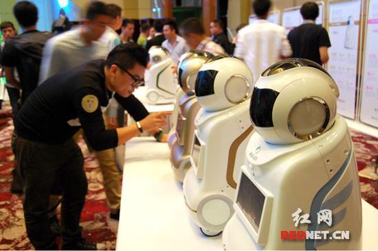 全国首个智能服务机器人吸引好奇的目光