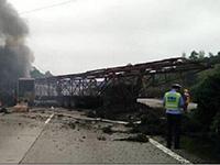 沪昆高速事故2名货车司乘人员已被控制