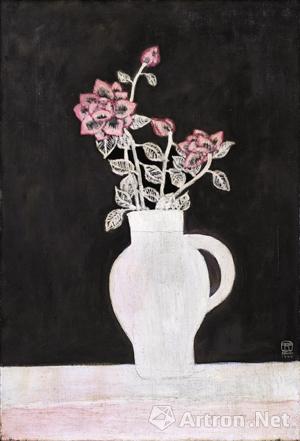 常玉 《薔薇花束》