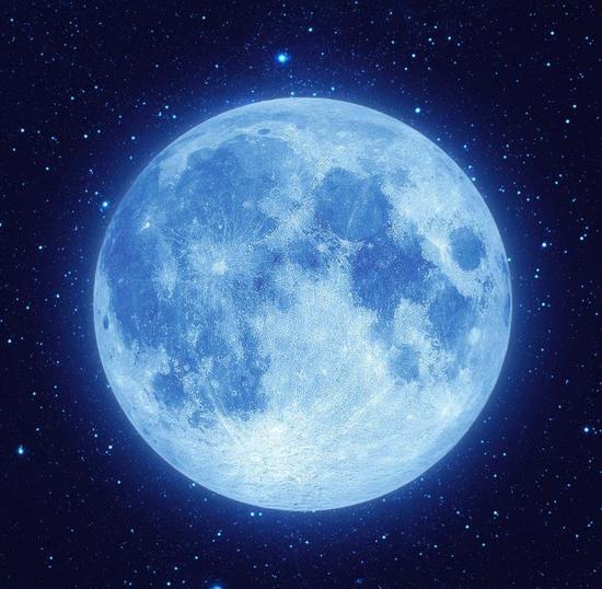 蓝月亮并非指蓝色的月亮,而是在同一个月出现的第二次满月