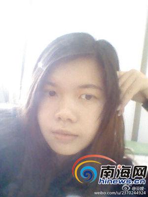 网传失踪的儋州女孩黎恒丹(图片来源网络)