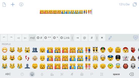 苹果官方键盘中提供的同性恋相关表情。