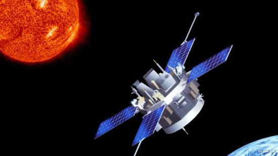 """正在太空运行的""""高新化学组成探测器""""(ACE)"""
