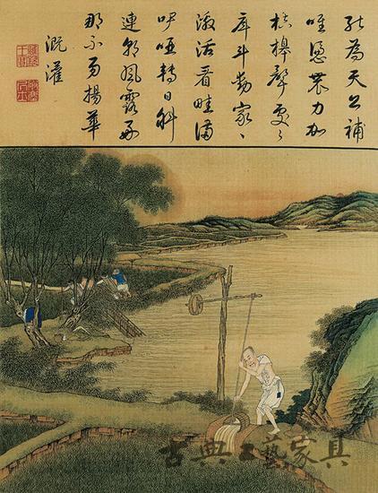 圖2 政爭產物《雍正耕織圖》之溉灌