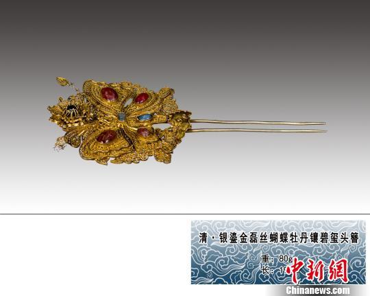 圖為展出的古簪精品。 呂鵬 攝