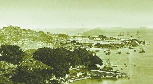 1880年代,厦门港玉沙坡(局部)。