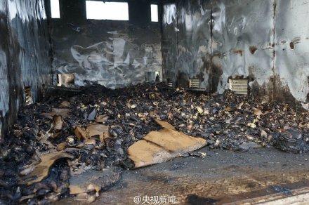 一辆运载数千只鸭苗的货车自燃