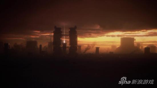 未来的废墟景象
