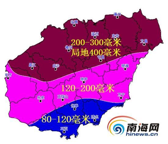 10月3日至4日降雨过程雨量