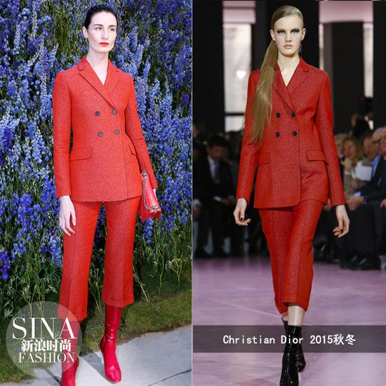 Erin O'Connor in Dior 2015秋冬