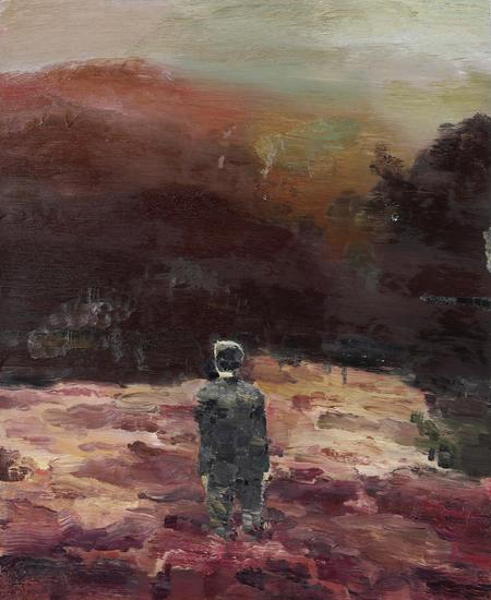 仇晓飞《我在盛夏的河流中迷失了自己》布面 油彩 131 x 107 cm 2009年 估价:港币 500,000 – 800,000
