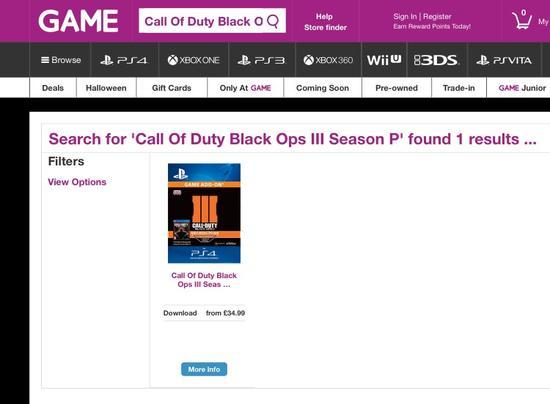 GAME也仅剩《使命召唤12》PS4数字版在售