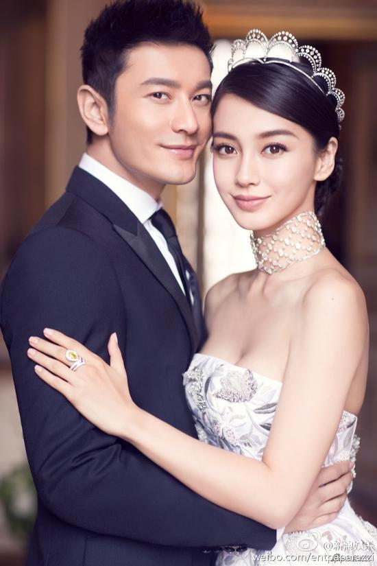 黄晓明baby婚纱照